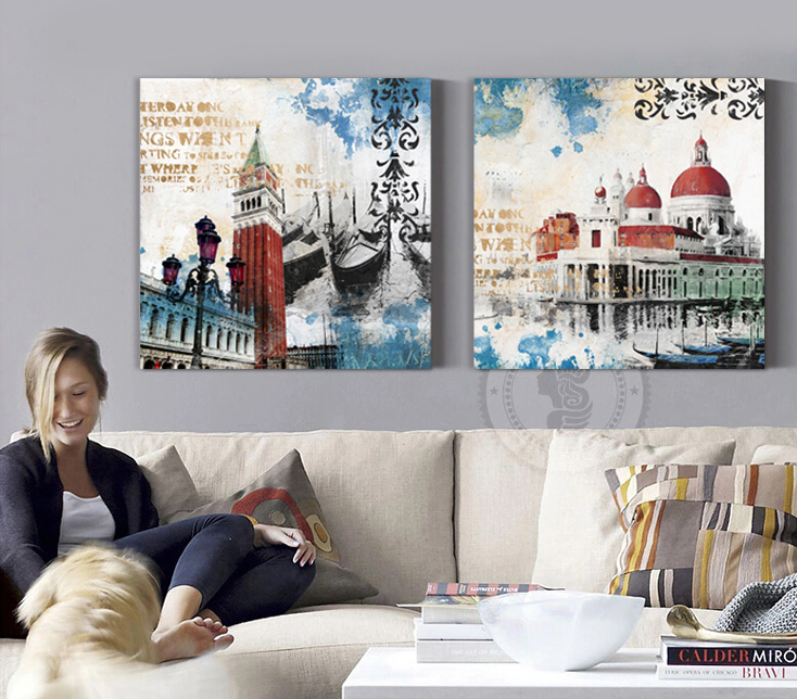 Church buildings Canvas Art wall Home Decor Modern Painting Picture Living room bedroom Office shipping(China (Mainland))