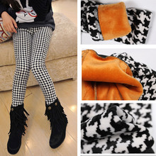Winter children girl Leggings Houndstooth skinny pants girls trousers children pants,baby pants kids warm elastic waist legging