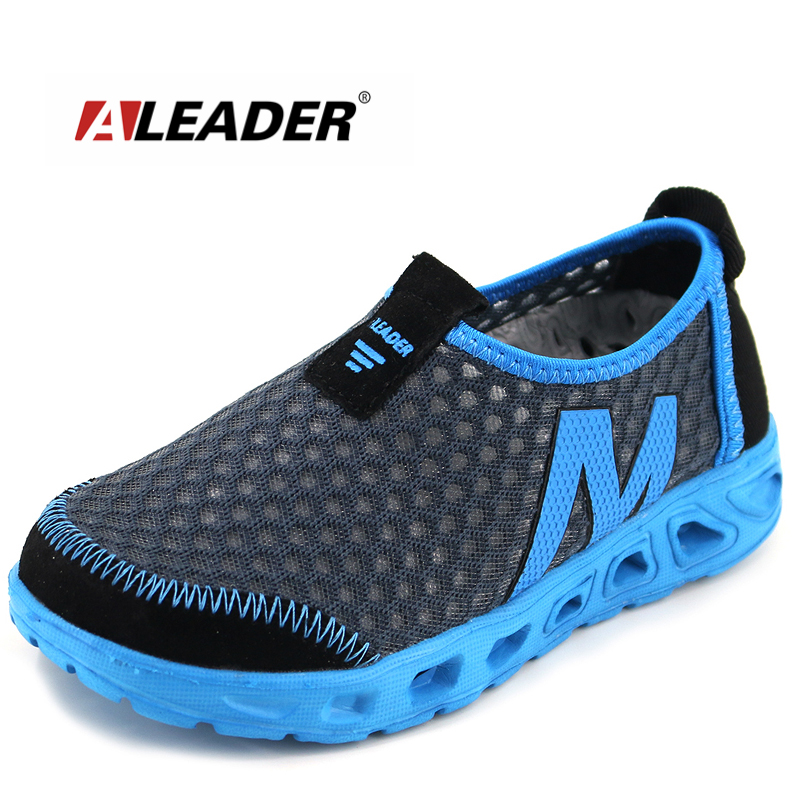 Summer Slip Children Shoes 2016 Breathable Boys Lightweight Girls Sport Running Casual Walking Sneakers - Aleader Brand Flagship Store store