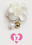 10pcs/lot The latest Japanese nail jewelry detachable magnet base cotton cloth flower/bow pendant nail charms magnet attraction(China)