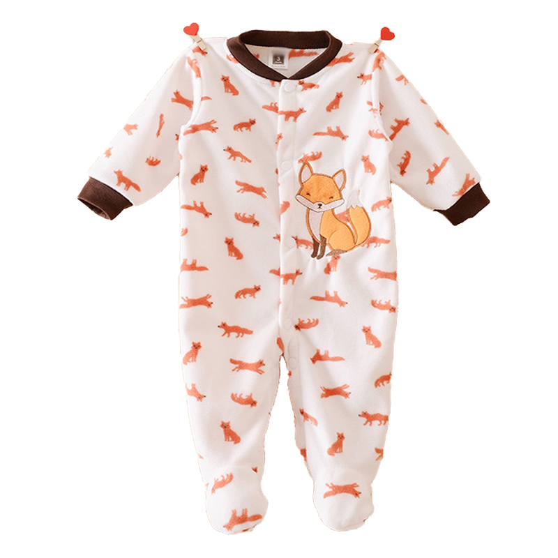 Newborn Winter Warm Baby Rompers Fleece Baby Clothing for Girls Cartoon Cotton Baby Boy Romper Roupa Infantil Next Baby Clothes(China (Mainland))