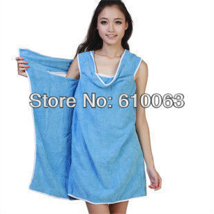 Free shipping microfiber Creative Variety Magic bath towel can be worn 5 colors 156*83cm