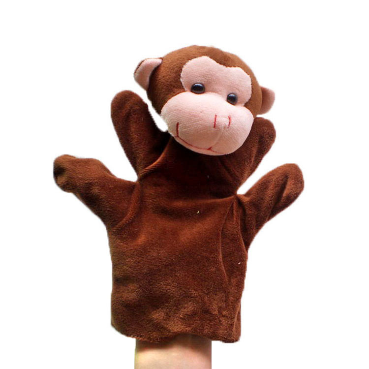 Monkey Puppet Plush Hand Puppets,Stuffed Doll,Glove-puppet kids toys Talking Props educational toys children(China (Mainland))