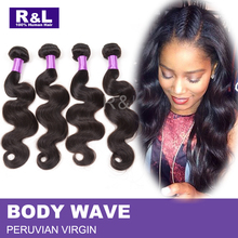 Peruvian Virgin Hair Body Wave 4 pcs lot 7A Unprocessed Virgin Hair Peruvian Body Wave Bundle Deals Human Hair Weave Extensions(China (Mainland))