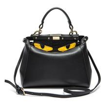 Genuine Leather Handbags crossbody bag Peekaboo bags women Famous Designers Brands lady Tote Monster Eyes Shoulder Bags strap