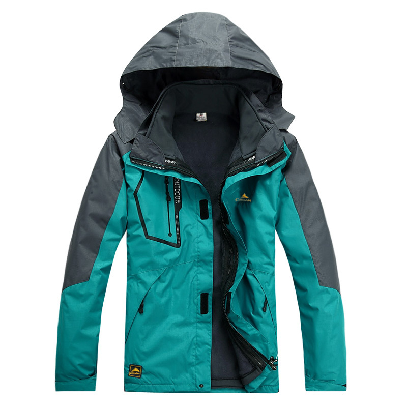 Фотография Men Outdoor Winter Climbing Camping Water Resistant Coats Jacket Outerwear Hoodied Sports Ski Snowboard Outdoor Jacket