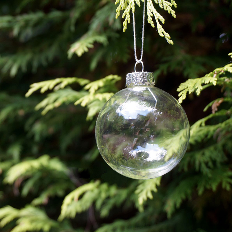 Christmas Glass balls Clear baubles Ornaments Decorations Christmas tree Pendants outdoor christmas inflatables Wedding(China (Mainland))