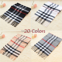 winter  womens scarf cashmere shawls striped & plaid scarves,woman scarf 20 colors women shawl with tassels ladies echarpe