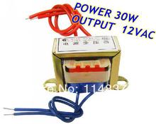 30W EI Ferrite Core Input 220V 50Hz Output 12VAC Vertical Mount Electric Power Transformer