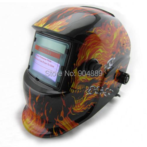 Skull Solar auto darkening TIG MIG MMA electric welding mask/helmet/welder cap/welding lens for welding machine OR plasma cutter(China (Mainland))