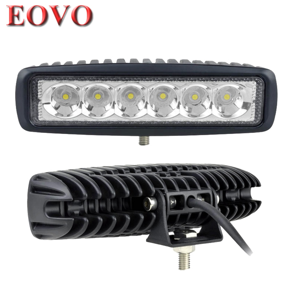 2pcs 6 Inch 18W LED Work Light for Indicators Motorcycle Driving Offroad Boat Car Tractor Truck 4x4 SUV ATV Spot Flood 12V(China (Mainland))