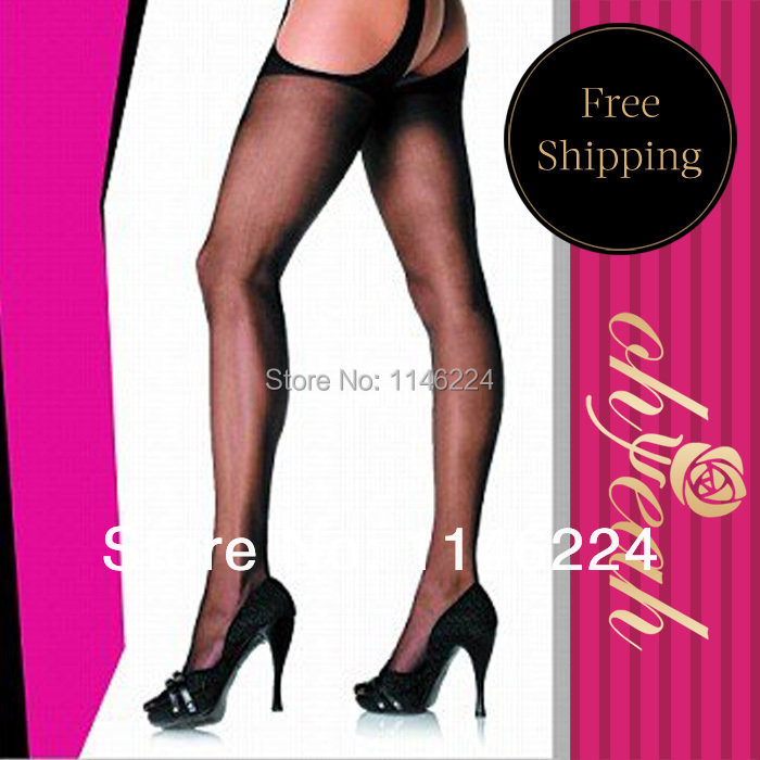 5028 Women's sheer nylon women pantyhose top stay up thigh high stockings pantyhose black wth ohyeah brand pantyhose sexy(China (Mainland))