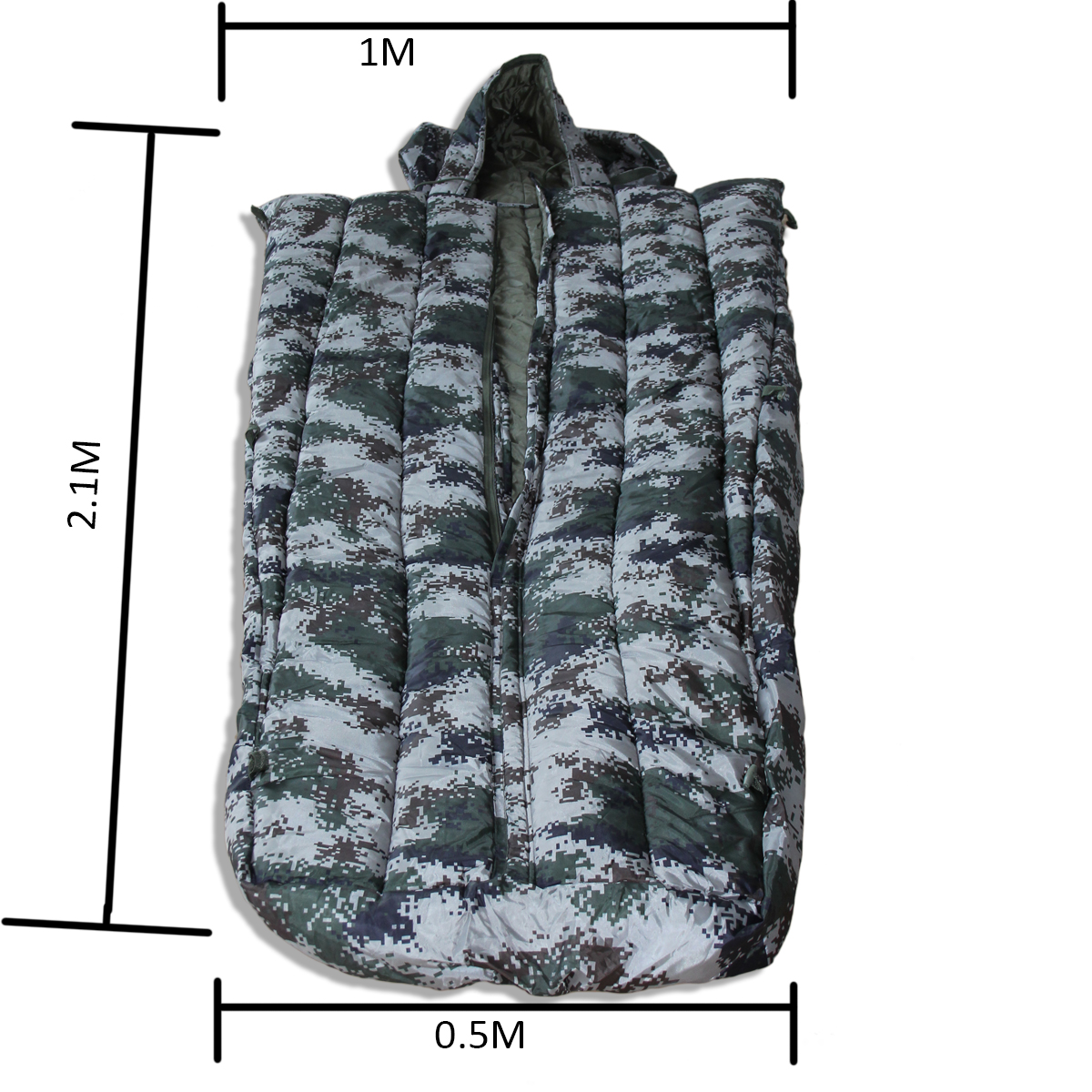 Digital Camouflage fadac field outdoor thermal cotton overcoat sleeping bag camping envelope sleeping bag