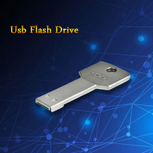 Full Size Waterproof silve key model 4GB 8GB 16GB 32GB 64GB USB Flash Drive Car Key Memory Stick Flash Pen Drive U disk gift(China (Mainland))