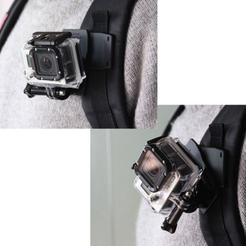 New Go pro Hero Sj4000 Accessories 360 Degree Rotary Backpack Hat Clip Fast Clamp Mount For