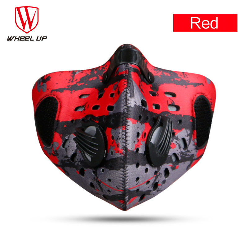 Red/Black/Blue/Green Cycling Mask Pollution Filter Face Masks Half MTB Bike Bicycle Dust Sport Snow Ski Running Cycling Mask(China (Mainland))