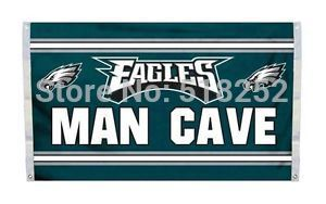 Philadelphia Eagles Man Cave Flag 3x5 FT Banner 100D Polyester NFL flag 201, free shipping(China (Mainland))