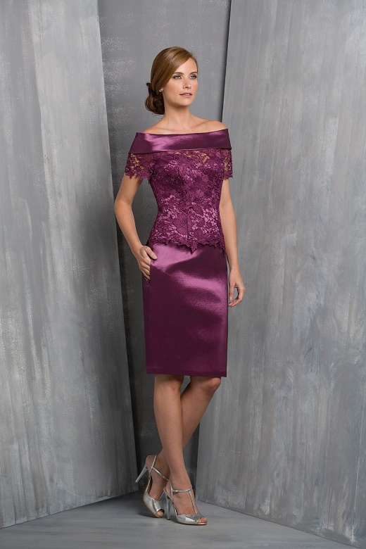 High quality hand made lace applique purple plus size for Purple dresses for weddings knee length