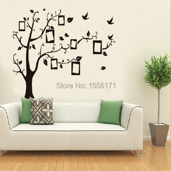Home decor wall sticker home black tree design wall for Black tree wall mural