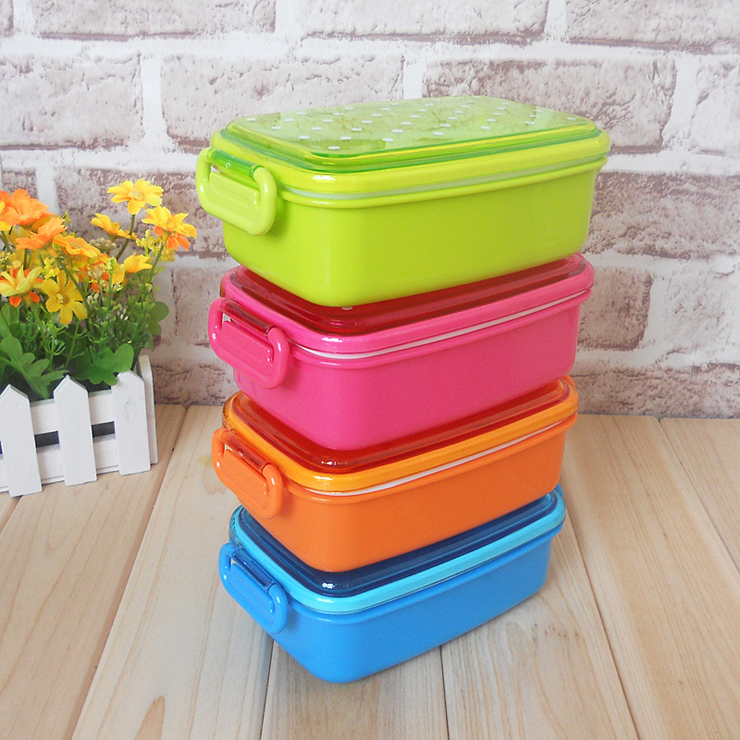 4 colors polka dot small japanese food storage box for kids sushi food contai. Black Bedroom Furniture Sets. Home Design Ideas