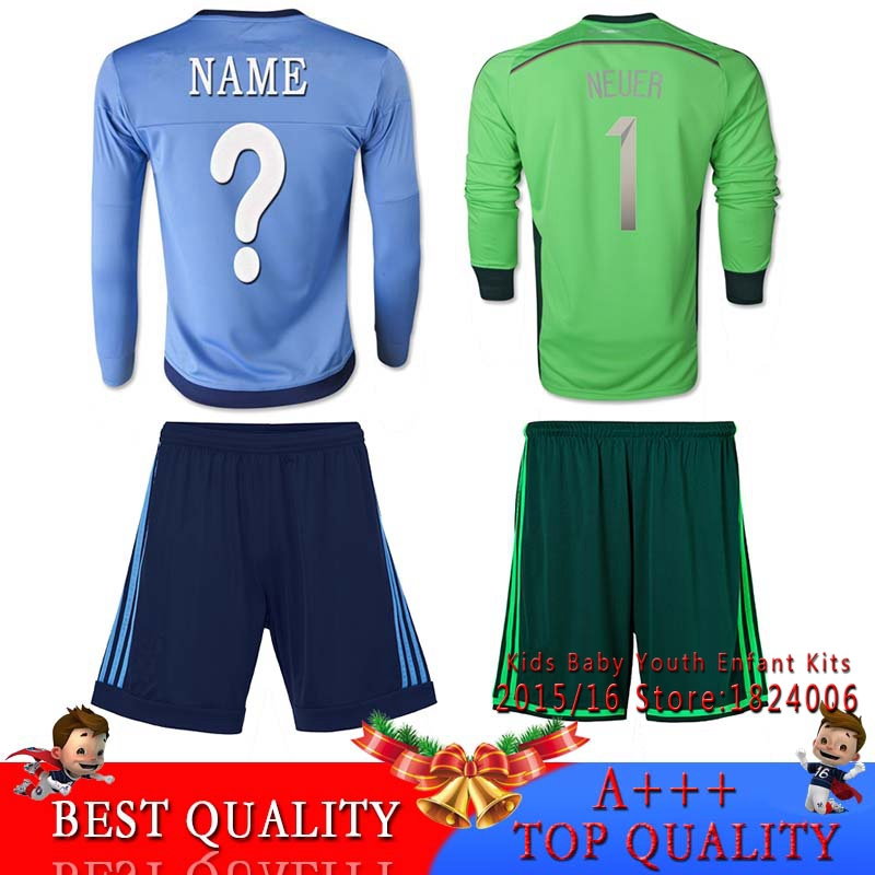 top quality bundesliga 2015 neuer kids kit goalkeeper. Black Bedroom Furniture Sets. Home Design Ideas