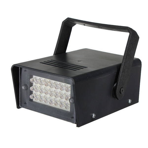Excellent qulaity US Plug Mini 220V 3W 24 LED Strobe Lights Operated DJ Disco Party Club Stage Lighting Effects 122*84*52mm(China (Mainland))