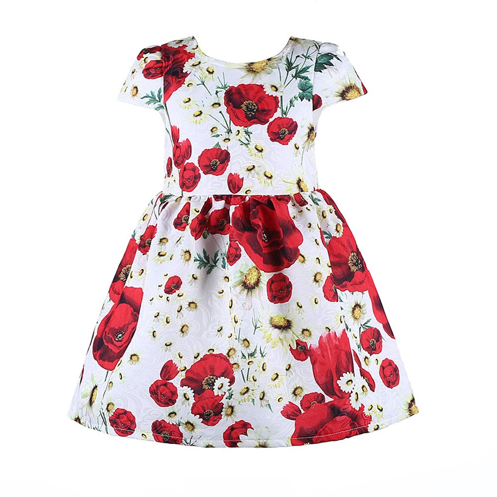Красивое платье в цветочек для девочек 2016 фото