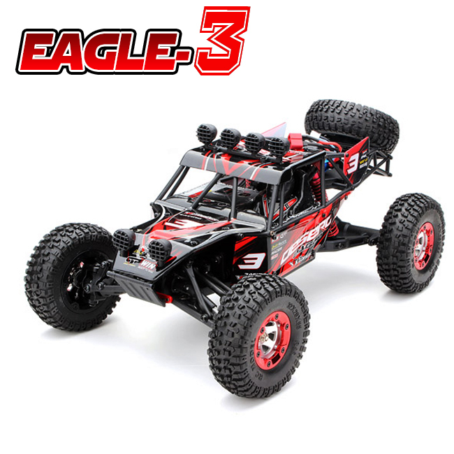 New Eagle-3 1/12 Scale 4WD Brushed Rc Car Electric Rock Racer Desert Off-Road Truck baja with 2.4GHz Radio System RTR(China (Mainland))