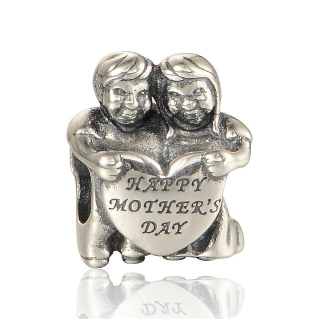 Счастливый день матери любовь бусины чистый 925-Sterling-Silver ювелирные изделия женщин DIY ювелирных подходит европейский бренд прелести браслет летний стиль