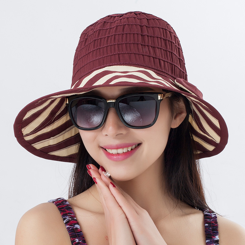 2016 Summer Women's Foldable Wide Large Brim Beach Sun Hat Cap Ladies Elegant Hats Girls VacationTour Anti-UV - SAMWEL store
