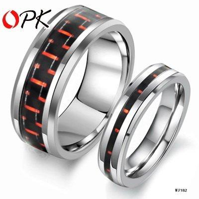 OPK JEWELRY Tungsten Steel Ring Fashin Couple Jewelry NEW Arrivel  182