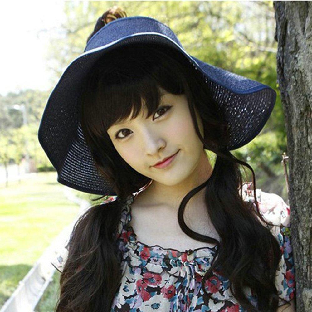 Korean Empty Top Hat Summer Style Sun Hats Folding For Women Girl Floppy Hat Sombreros Women 2015 New Fashion(China (Mainland))
