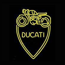 Ducati Meccanica Bllogna Neon Sign Neon Bulbs Recreation Garage Real Glass Tube Glass Handcraft Store Display Neon Bar Sign19x15