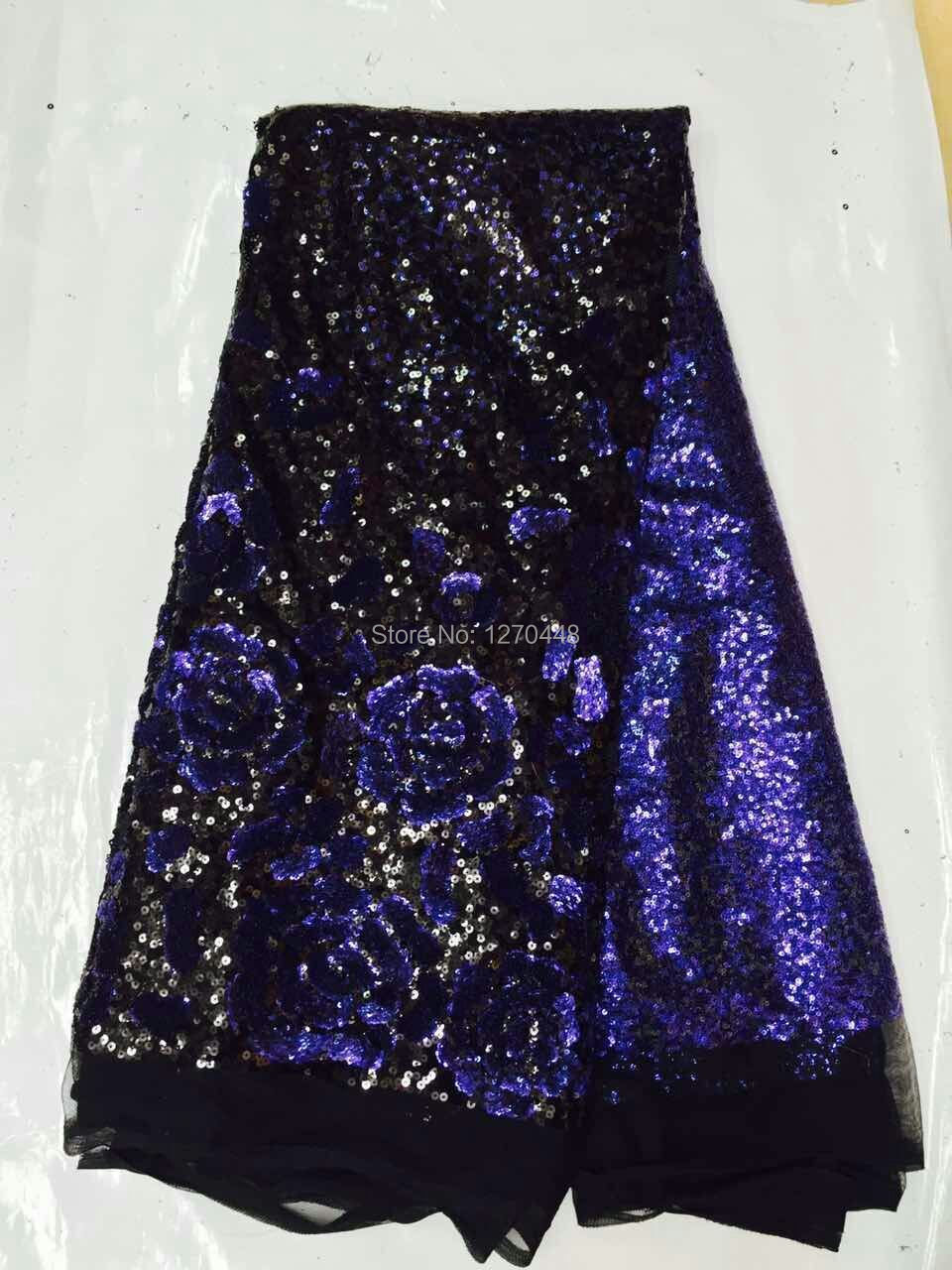 Aliexpress buy royal blue black allovered sequin