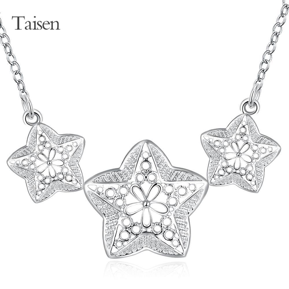 female perfume matched pentagram pendants for friendssilver necklace women jewelry necklace decorationbig necklace cute fashion(China (Mainland))