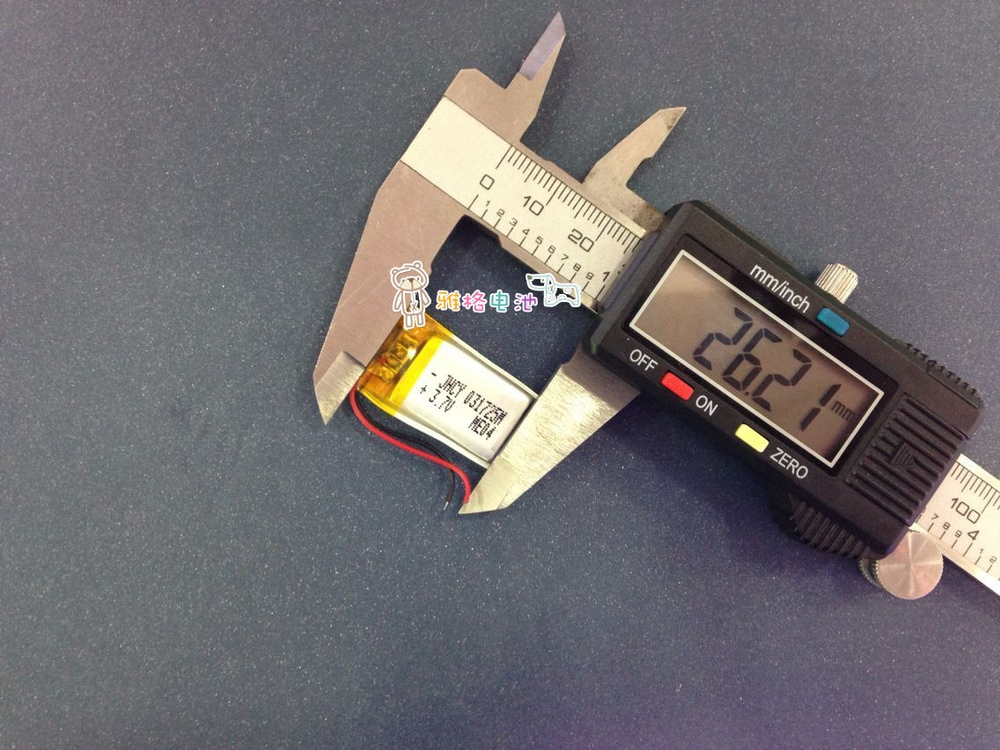 3.7V lithium polymer battery 301725 110MAH MP3 Camera Pen Bluetooth headset wireless mouse(China (Mainland))