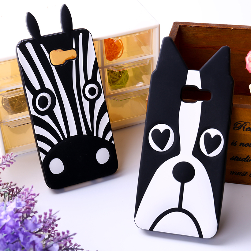 Loverly Silicon Protective White&Black Dog Zebra Rubber Cases Cover For Samsung Galaxy A5 (2016) A510 A5100 Phone Accessories(China (Mainland))