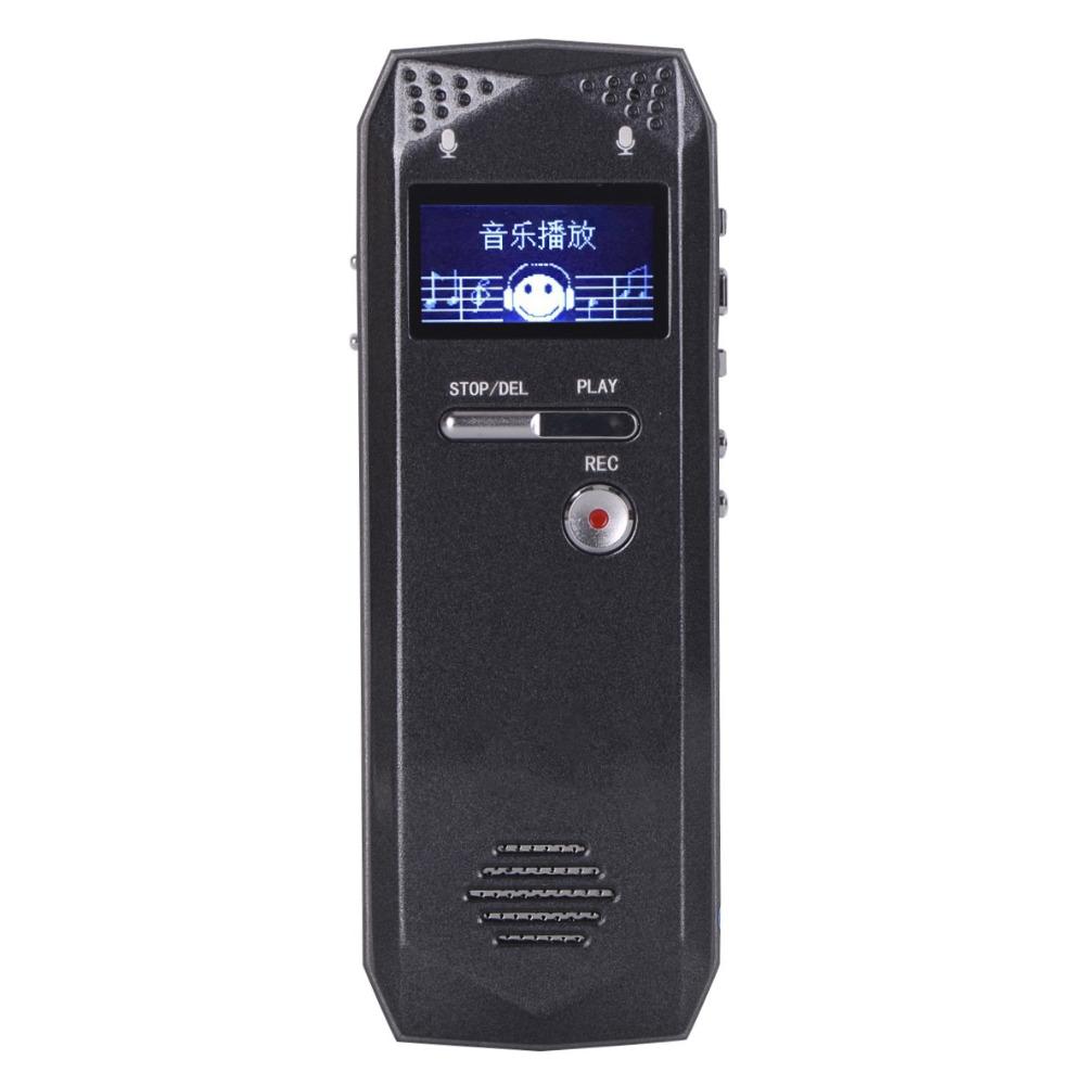 Professional Long Recording 16GB Steel Stereo Recording Mini Digital Audio Recorder Voice Recorder MP3 Player FM tuner(China (Mainland))