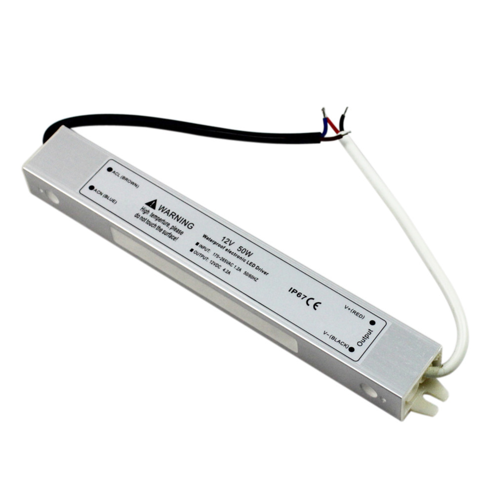 GoesWell LED Driver 12V 50W AC175-265V IP67 Waterproof Switching Power Supply LED Electronic Voltage Transformer Adapter(China (Mainland))