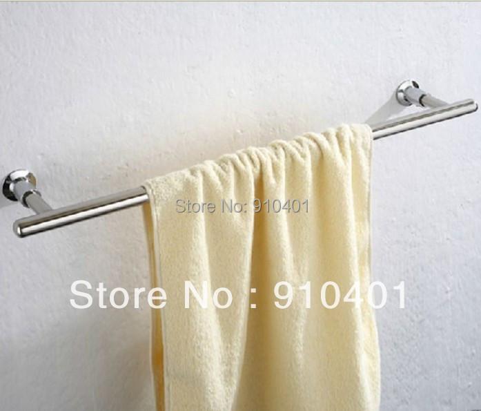 Hot Sale Wholesale And Retail Promotion Polished Chrome Brass Bathroom Wall Mounted Towel Rack Holder Single Towel Bar(China (Mainland))