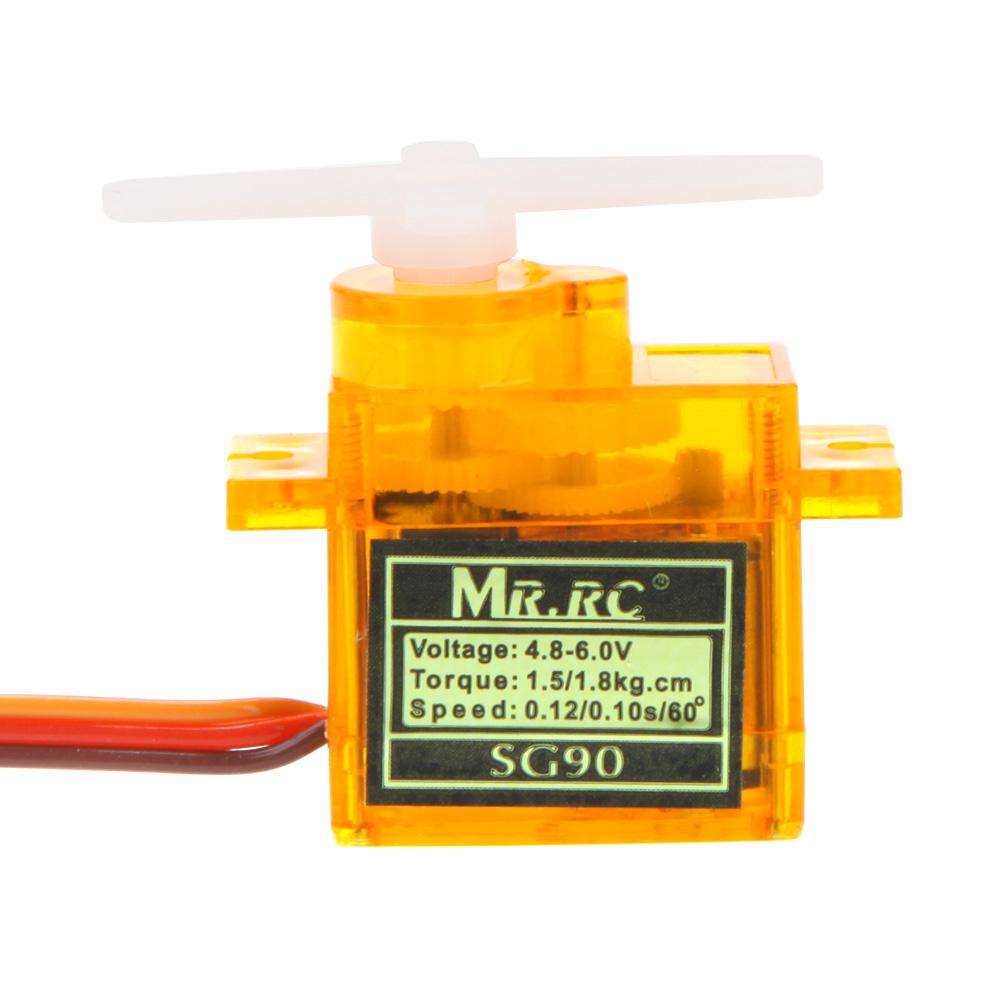 4 Pcs MR.RC High Precision Mini Gear Micro SG90 9g Servo For RC Airplane 450 Helicopter Swashplate Servo New(China (Mainland))