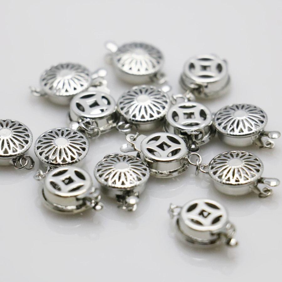 10PCS Hot wholesale Snap Button Metal Accessory Silver-plate for DIY Necklace Bracelet Machining parts Jewelry Making 12*4.6mm(China (Mainland))