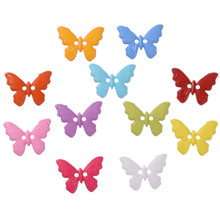 Buy Hot 200 Pcs Plastic Mixed Color Butterfly Style Sewing Buttons 23*17mm Scrapbooking 2 HolesDIY Accessories for $3.91 in AliExpress store