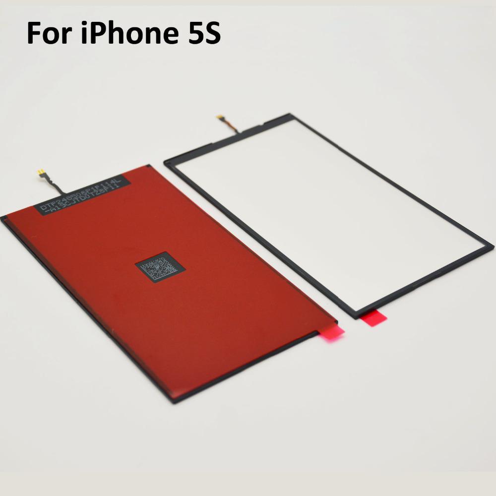 10PCS/LOTLCD Display Backlight Film For iPhone 5S Back Light Refurbishment Repair Parts(China (Mainland))