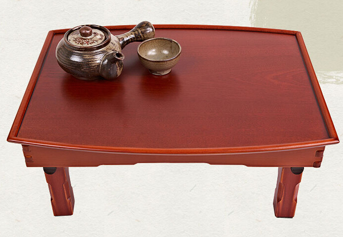 Asian Antique Furniture Korean Low Table Folding Legs Rectangle 70 50cm Living Room Coffee Table