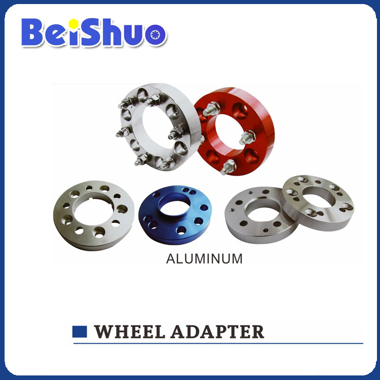 4 lug part Car Aluminum Billet Wheel Adapter/flange alloy wheel spacer High polish Aluminium 6061(China (Mainland))