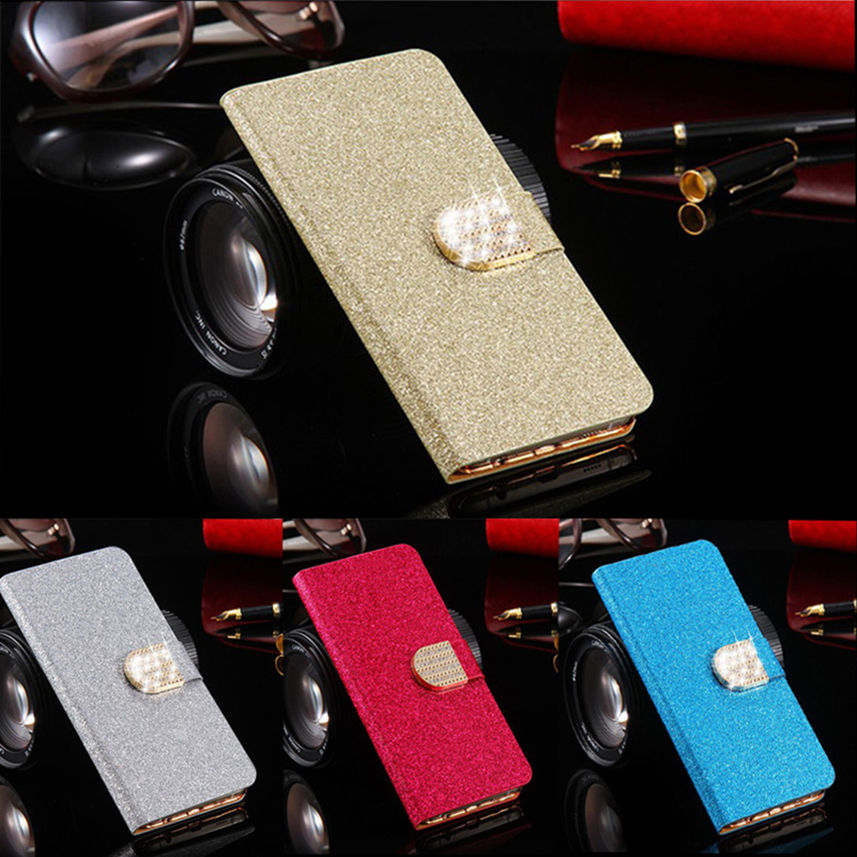 For Blackberry Q5 Case Luxury Bling Crystal Flip PU Leather Wallet Phone Bag For Blackberry Q5 Cover With Card Holder(China (Mainland))
