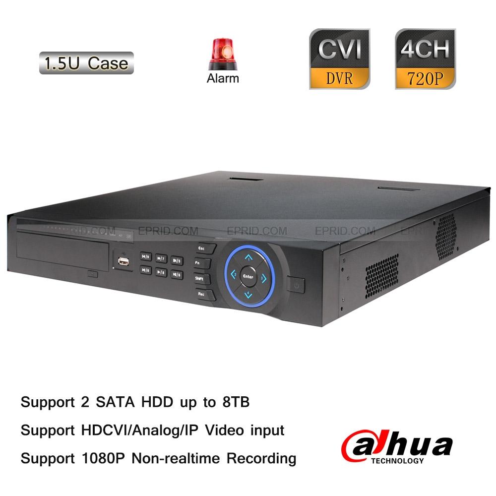 Dahua 4CH Tribrid 720P-Pro 1.5U HDCVI Analog Hybrid DVR 2CH 1080P IP Input<br><br>Aliexpress