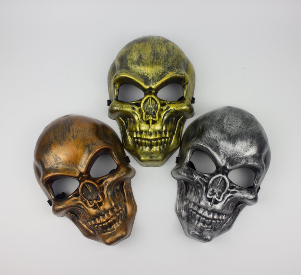 Halloween toys simulation 1:1 human skull terrorist resin ...