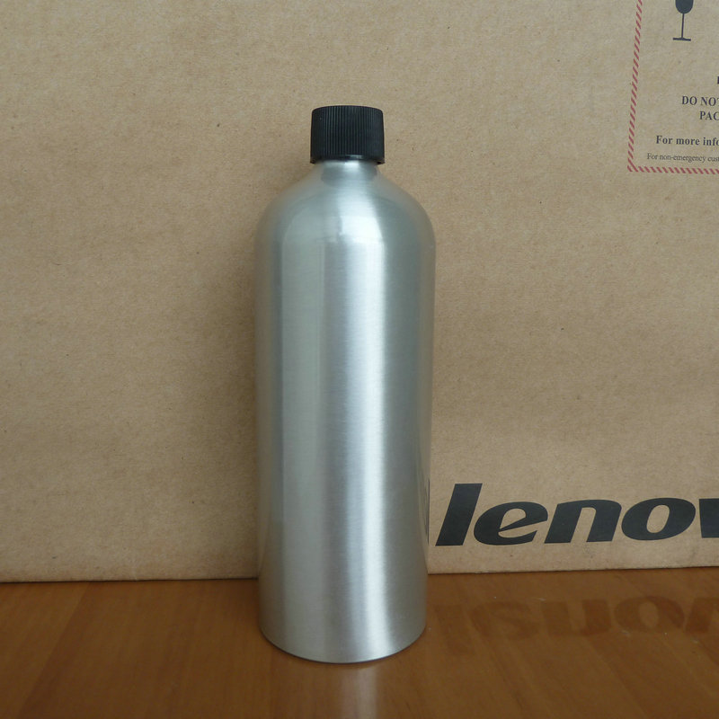 500ml aluminum silver bottle With black plastic cap.cosmetic container, used for essential oils,pharmaceutical raw materials<br><br>Aliexpress